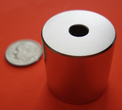 Neodymium Magnets 1 in x 1 in with 1/4 in Hole Cylinder