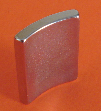 "Pair of High Temp Neodymium Magnets 2"" OD x 1.75"" ID x 1"" 45 Deg N42SH"