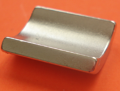 "Pair of High Temp Neodymium Magnets 1"" OD x 3/4"" ID x 3/4"" 90 Deg Arc N42SH"