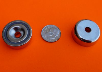 Cup Magnets 65 lbs Strong Neodymium 1 inch