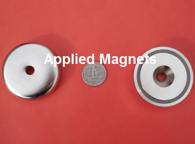 2 inch Cup Magnets with Strong Neodymium Magnet Meteorite