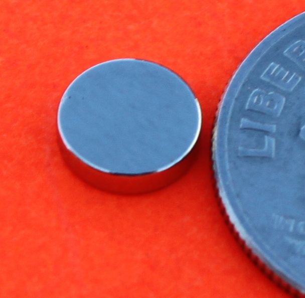 Rare Earth Neodymium Magnets 1/4 in X 1/16 in Discs
