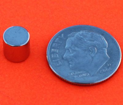 Neodymium Magnets 1/4 in x 1/4 in Rare Earth Cylinder N42