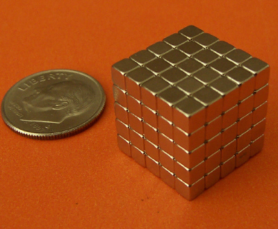 10 Pcs of N48 Neodymium Magnets 1/8 inch Cube