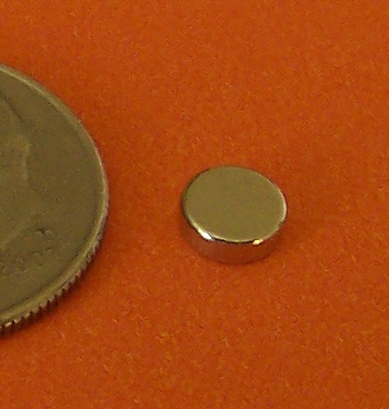 N52 Neodymium Disc Magnets 3/16 in x 1/16 in