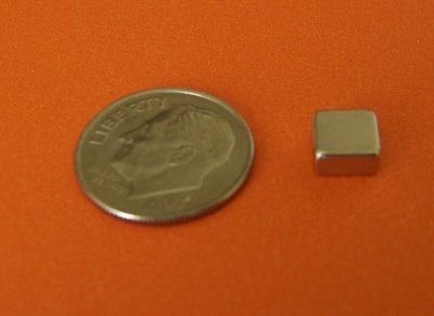 Neodymium Magnets N45 Block 1/4 in x 1/4 in x 1/8 in NdFeB