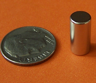Rare Earth Neodymium Magnets 1/4 in x 1/2 in Cylinder N42