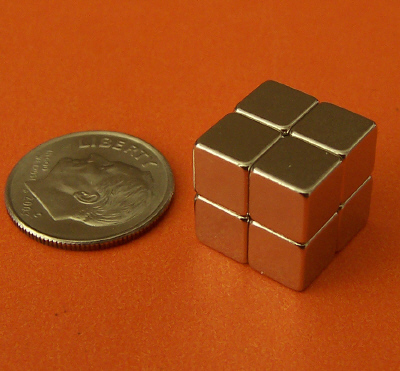 Rare Earth 1/4 inch Cube Neodymium Magnets N42