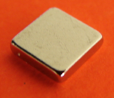Rare Earth Magnets 1/4 in x 1/4 in x 1/16 in Neodymium Block N42