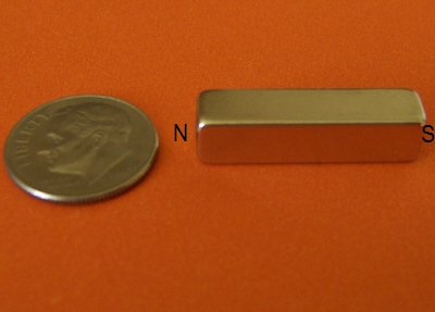 Neodymium Magnets N45 Block 1/4 in x 1/4 in x 1 in