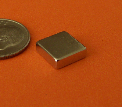 N45 Neodymium Magnets 3/8 in x 3/8 in x 1/8 in Block
