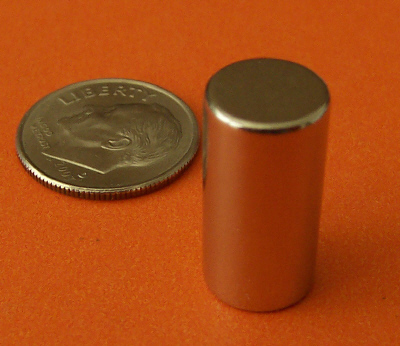 Neodymium Cylinder Magnets 3/8 in x 3/4 in Rare Earth N42