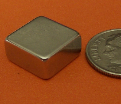 Rare Earth Magnets 1/2 in x 1/2 in X 1/4 in Neodymium Block N42
