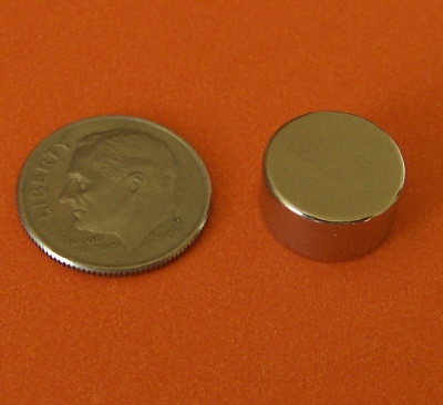 Neodymium Disc Magnets 1/2 in x 1/4 in Rare Earth N42