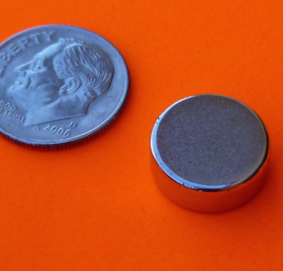 Neodymium Magnets 1/2 in x 3/16 in Disc