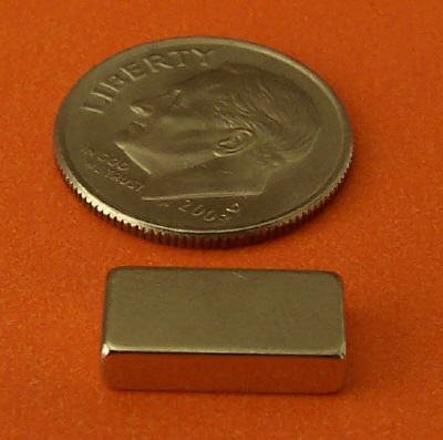 Neodymium Bar Magnets 1/2 in x 1/4 in x 1/8 in N42
