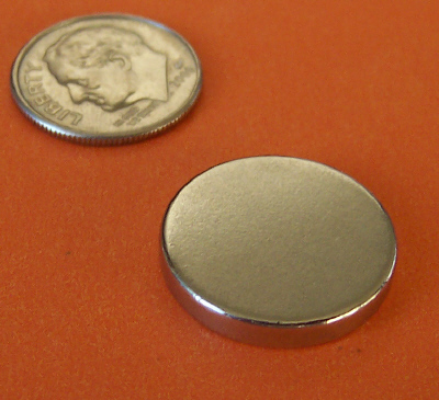 Neodymium Magnets N50 3/4 in x 1/8 in Disc