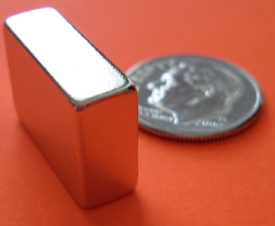 Strong N52 Neodymium Magnets Block 3/4 in x 1/4 in x 1/2 in