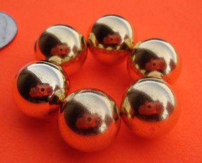 N52 Neodymium 7/8 in Gold Plated Sphere Magnet