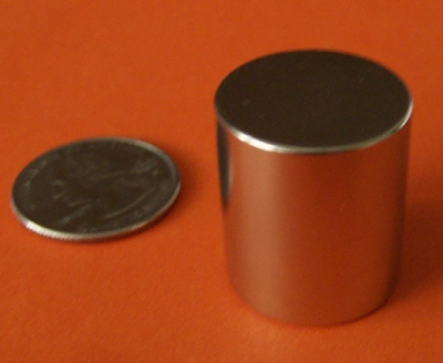 Neodymium Magnets 7/8 in x 1 in Rare Earth Cylinder N42