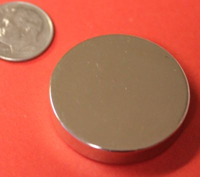 N45 Neodymium Magnets 1.26 in x 1/4 in Rare Earth Disc
