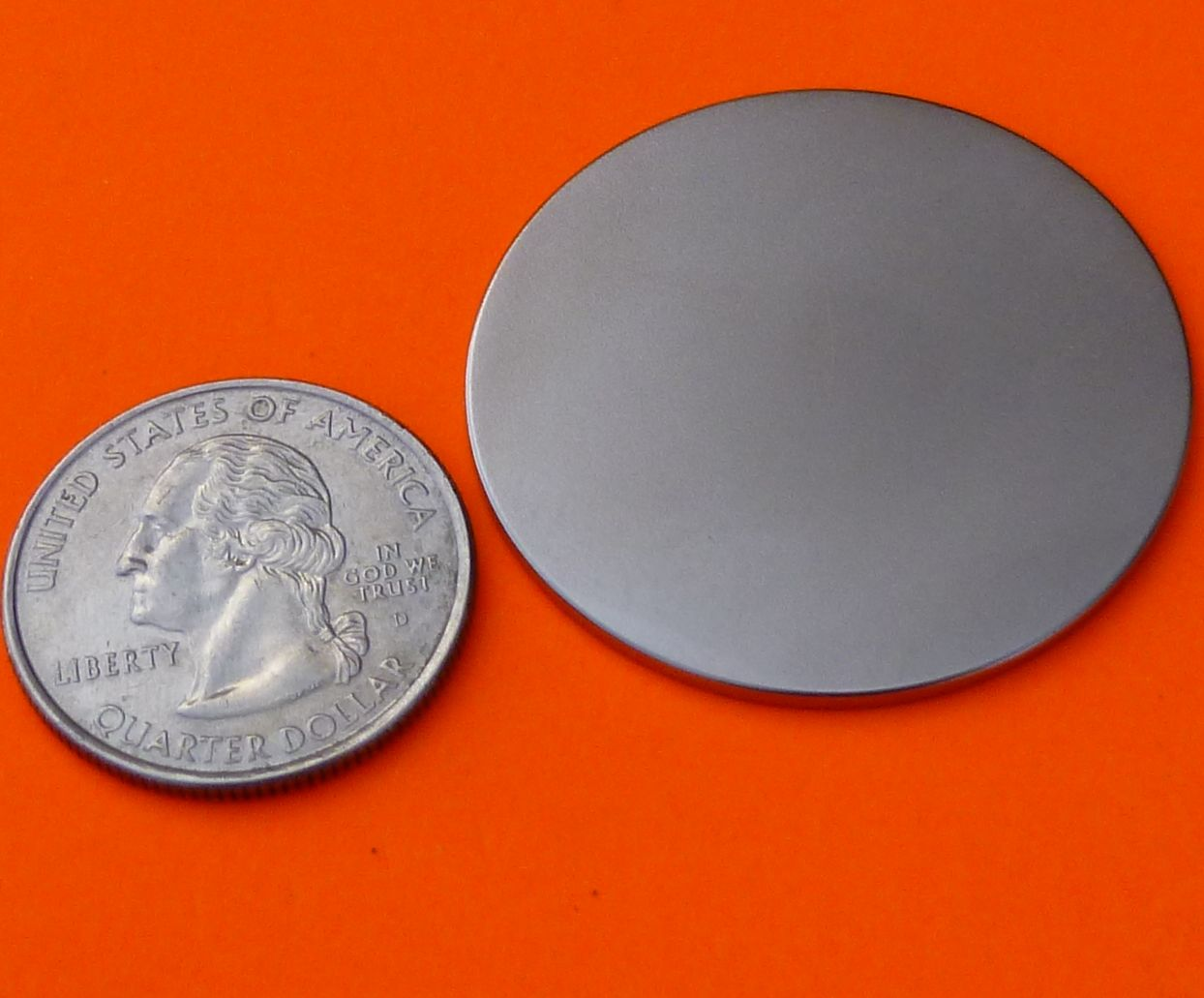 Super Strong N52 Neodymium Magnets 1.5 in x 1/16 in Disc