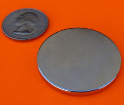 Rare Earth Magnets 1.5 in x 1/8 in Neodymium Disc N42