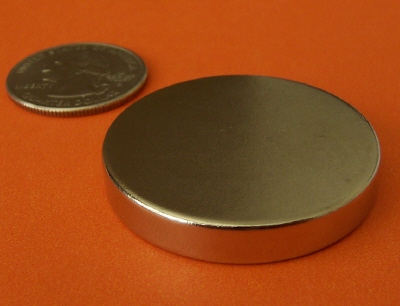 N52 Rare Earth Magnets 1.5 in x 1/4 in Neodymium Disc