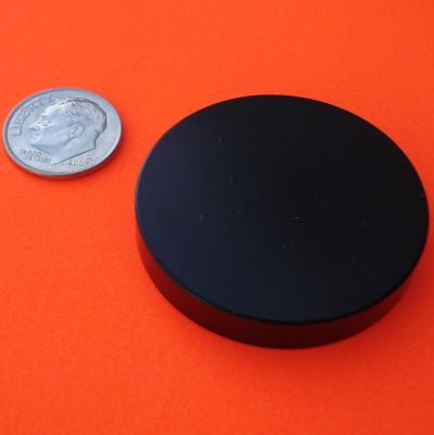 Rare Earth Magnets Epoxy-Cu-Ni 1.5 in x 1/4 in Neodymium Disc