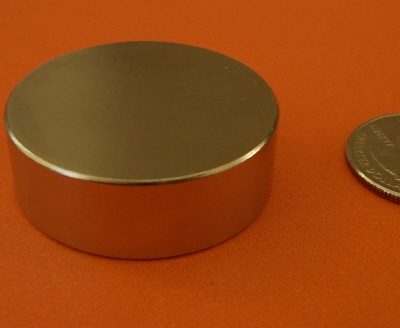 N52 Neodymium Magnets 1.5 in x 1/2 in Rare Earth Disc