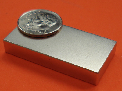 N50SH High Temp Neodymium Magnets Block 1.5 in x 3/4 in x 1/4 in