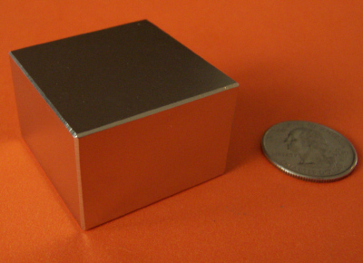 Rare Earth Magnets 1.5 in x 1.5 in x 1 in Neodymium N45 Block