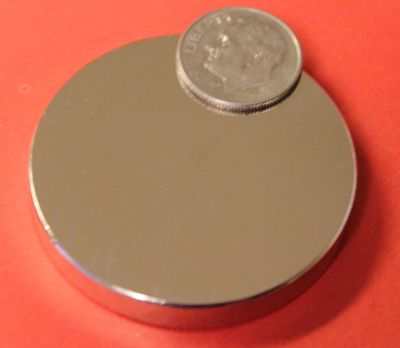 Rare Earth Magnets 2.5 in x 1/8 in N42 Neodymium Disc
