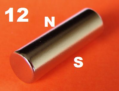 12 Neodymium Magnets Diametrically magnetized 3/16 in x 3/8 in