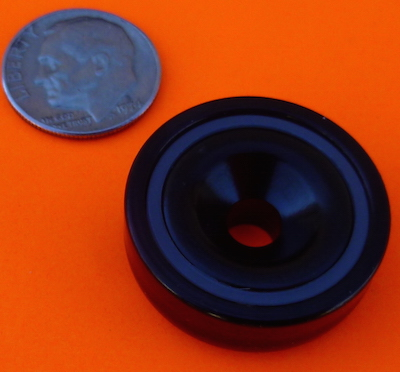 Epoxy+Ni Coated 1 inch Strong Neodymium Cup Magnets 49 lbs Pull