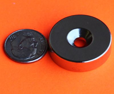 Neodymium Magnets 1 in x 1/4 in w/Dual Sided Countersunk Hole Disc