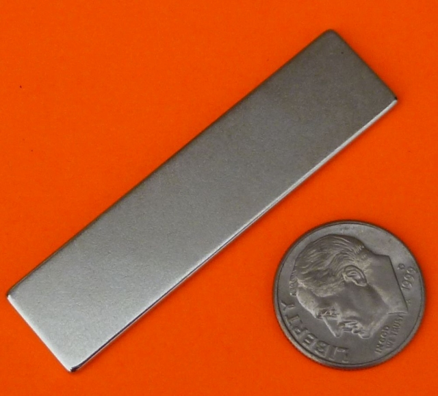 Rare Earth Magnets N45 2 in x 1/2 in x 1/16 in Neodymium Block