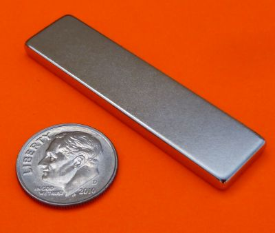 Rare Earth Magnets 2 in x 1/2 in x 1/8 in N42 Neodymium Bar Magnet