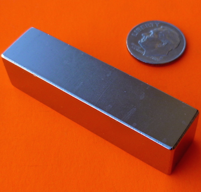 N52 Strong Neodymium Magnets 2 in x 1/2 in x 1/2 in Block