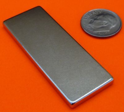Strong N52 Neodymium Magnets 2 in x 3/4 in x 1/8 in NdFeB Block