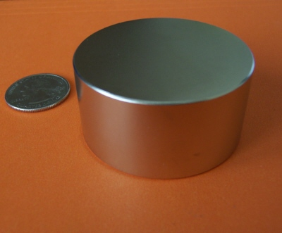 Rare Earth Magnets 2 in x 1 in Disc Strong Neodymium N42
