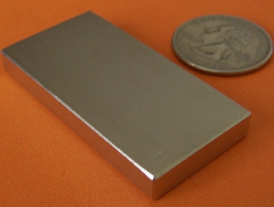 N52 Neodymium Magnets Block 2 in x 1 in x 1/4 in NdFeB