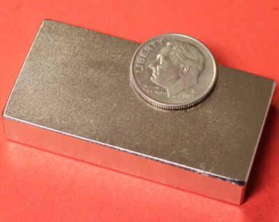 N48 Neodymium Block Magnets 2 in x 1 in x 3/8 in
