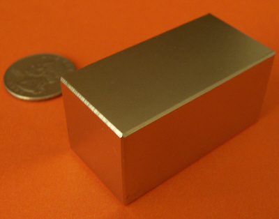 Neodymium Magnets N42 Block 2 in x 1 in x 1 in