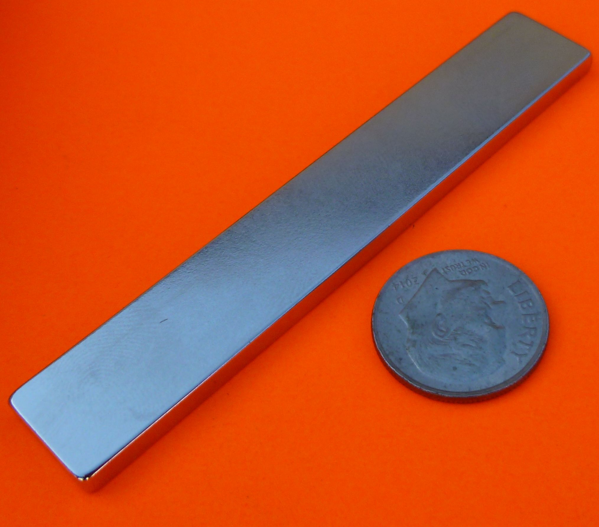 Neodymium Magnets N42 Bar 3 in x 1/2 in x 1/8 in