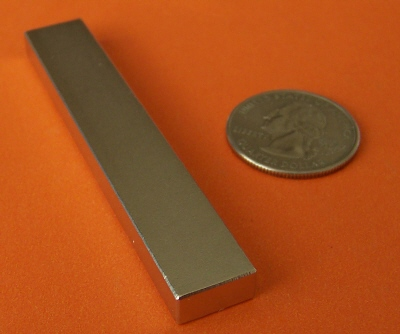 Super Strong N52 Neodymium Magnet Block 3 in x 1/2 in x 1/4 in