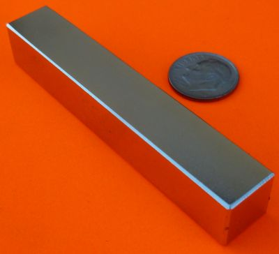 Strong N52 Neodymium Magnets 3 in x 1/2 in x 1/2 in Block
