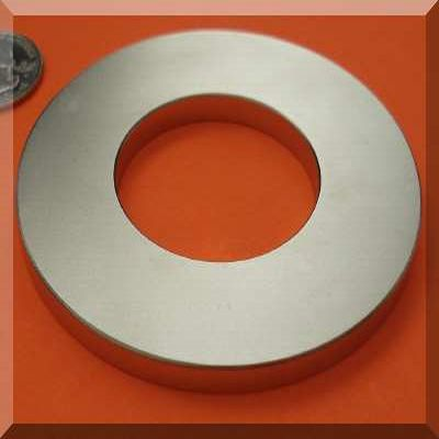 Large Ring Magnets 6 in OD  x 3 in ID x 1/2 in Neodymium Rare Earth