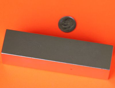 Super Strong N52 Neodymium Block Magnets 4 in x 1 in x 1 in