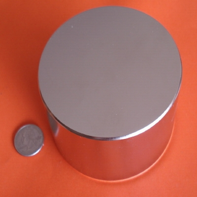 Industrial Magnets 4 in x 2 in Strong Neodymium Disc N42